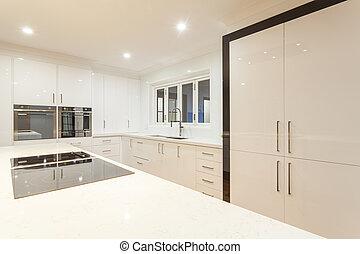 ultra moderne cuisine acier sans tache moderne le. Black Bedroom Furniture Sets. Home Design Ideas
