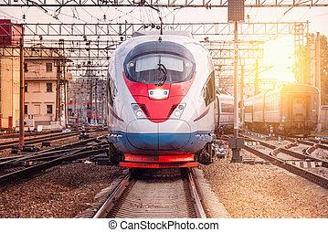 ultra-rapide,  train, moderne