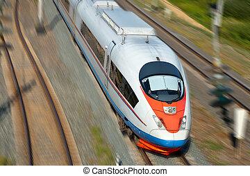 ultra-rapide, train passager
