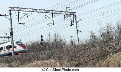 ultra-rapide, train passager, sapsan