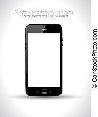 Ultra Realistic modern touch smartphone template with 5...