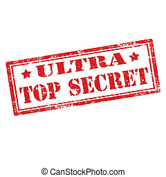 Ultra Top Secret-stamp - Grunge rubber stamp with text Ultra...