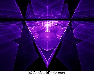 ultra veilchen, perspektive, geometrisch