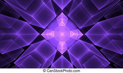 Ultra violet Cubes Rotating in Perspective