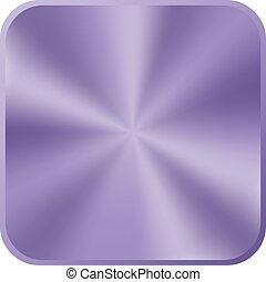 Ultra violet metal button icon. Vector illustration.