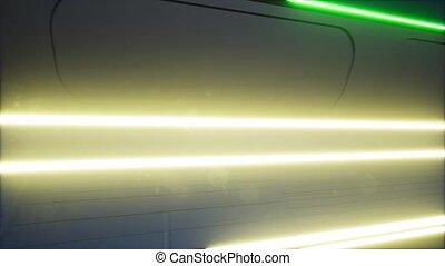 ultra-violet, salle, néon, incandescent, portail, tunnel, ...
