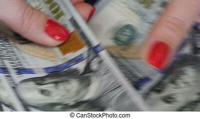 UltraHD video of counting money - UltraHD (4K) video of...