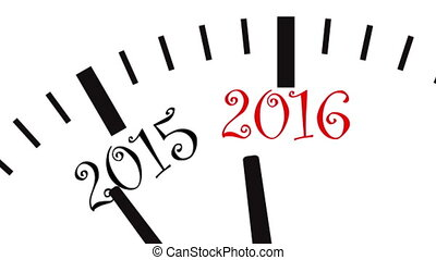 New Year clock - UltraHD video of New Year clock