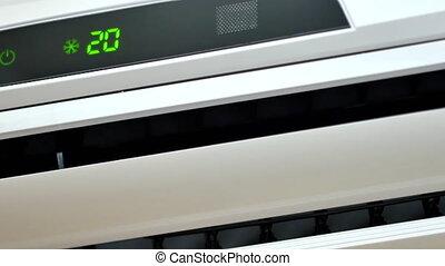 ultrahd, video, von, arbeitende , klimaanlage, nahaufnahme