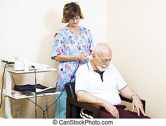 ultraljud, terapi, kiropraktik