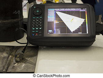 Ultrasonic testing device ; for defect inspection of welding...