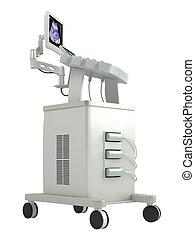 ultrasonido, explorador, para, ultrasonography