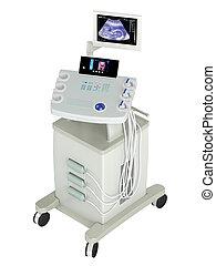 ultrasonido, explorador, ultrasonography