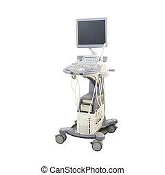 ultrasound apparatus under the white background