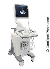 ultrasound apparatus under the white background