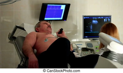 Ultrasound inspection in a clinic