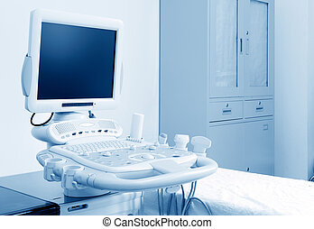 Ultrasound machine - Interior of examination room with...