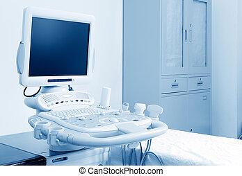 Ultrasound machine - Interior of examination room with ...