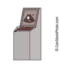 ultrasound machine technology isolated icon vector illustration design