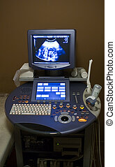 Ultrasound medical device in operation.