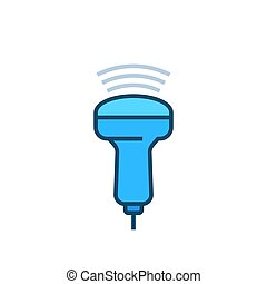 ultrasound vector icon with outline, eps 10 file, easy to edit