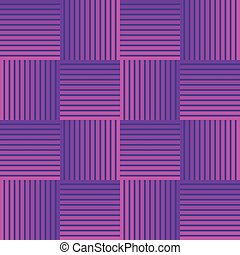 Ultraviolet checker patterns composed of stripped squares, 3d illusion, optical art design, seamless abstract background