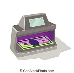 Ultraviolet detector with display and money