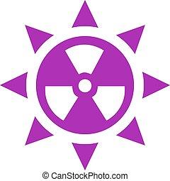 Ultraviolet radiation vector icon