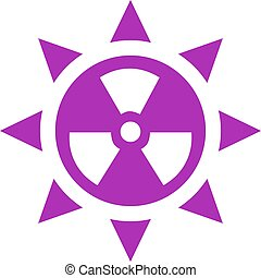 Ultraviolet radiation vector icon on white background