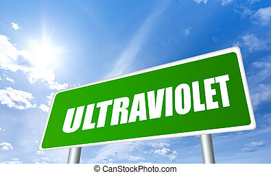 Ultraviolet warning sign