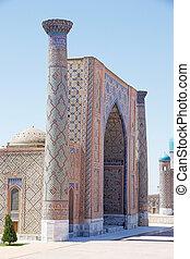 Samarkand - Ulugh Beg Madrasah at the Registan, Samarkand,...