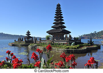 Ulun Danu Beratan Lake Temple in Bali Indonesia, Bali's most...
