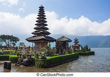 Ulun Danu temple on lake Beratan, Bali, Indonesia