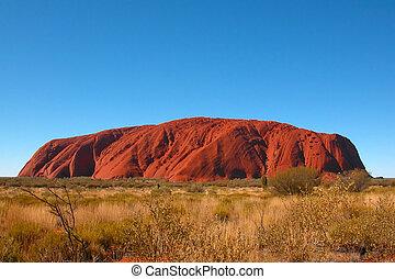 Uluru (Ayers Rock) - Ayers rock in Alice Springs, Australia.