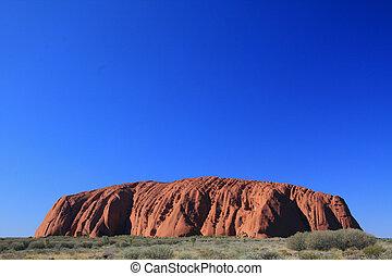 uluru, ayres, rocha, austrália