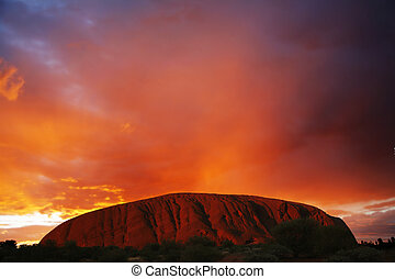 Uluru or Ayers Rock at Sunset