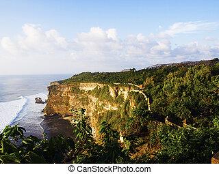 Uluwatu coast - Bali coast at Pura Luhur Temple area, ...