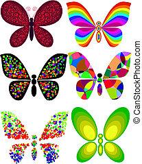 umělecký, motýl