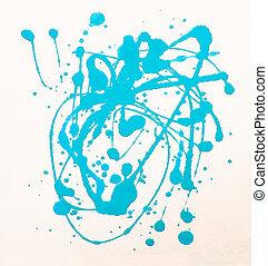 umění, barvitý, namalovaný, abstraktní, noviny, grafické pozadí