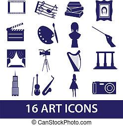 umění, ikona, dát, eps10