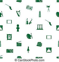 umění, ikona, model, seamless, eps10