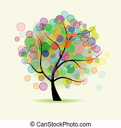 umění, strom, fantazie