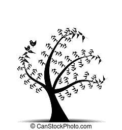 umění, strom