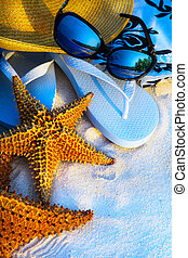 umění, summer prázdniny, moře, pláž, grafické pozadí