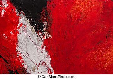 um, abstratos, expressionistic, pintura acrílica, em,...