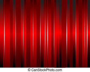 um, abstratos, seda vermelha, efeito, cortina
