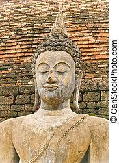um, antigas, imagem, de, buddha