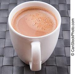 um, assalte, de, chocolate quente
