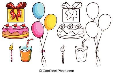 um, celebração aniversário