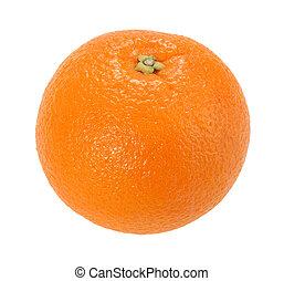 um, cheio, laranja, só